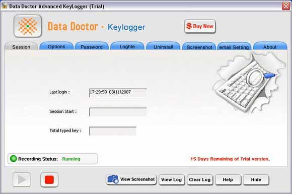 Remote Keystroke logger