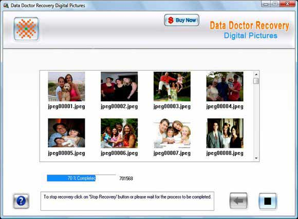 Digital Photo Recovery Utility screen shot