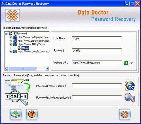 Download IE forgotten password recovery tool