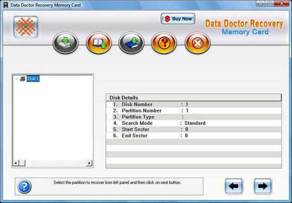 Memory Card Data Retrieval Program screen shot