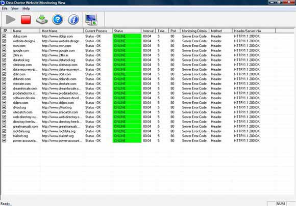 Website Monitoring Program