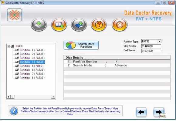 Windows Partition Data Salvage Software screen shot