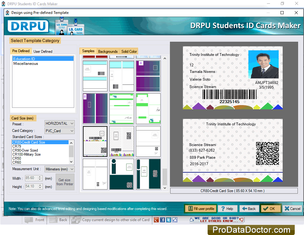 Make student ID cards in various institutions