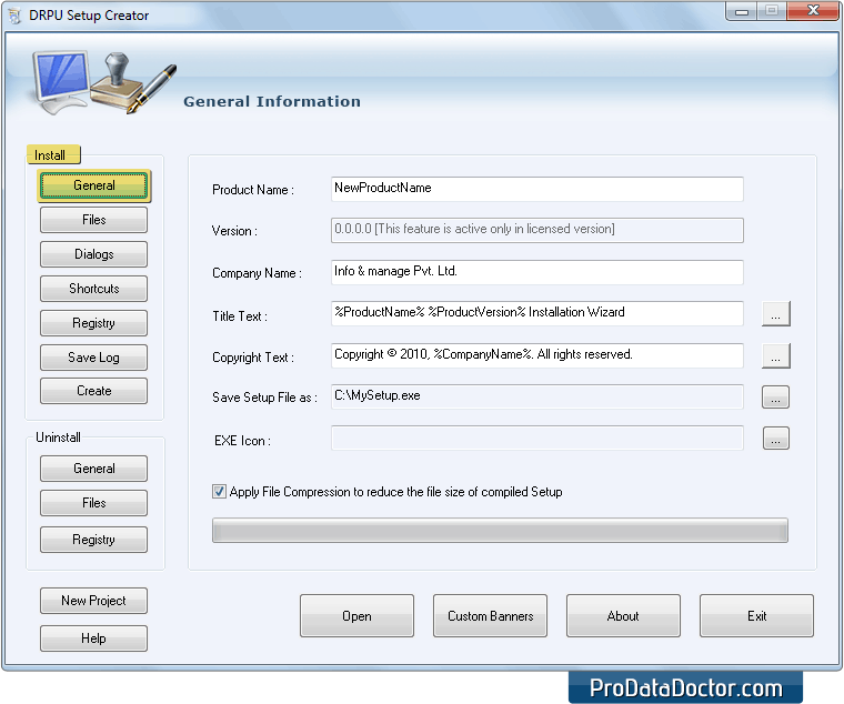 Setup creator installer builder software create self