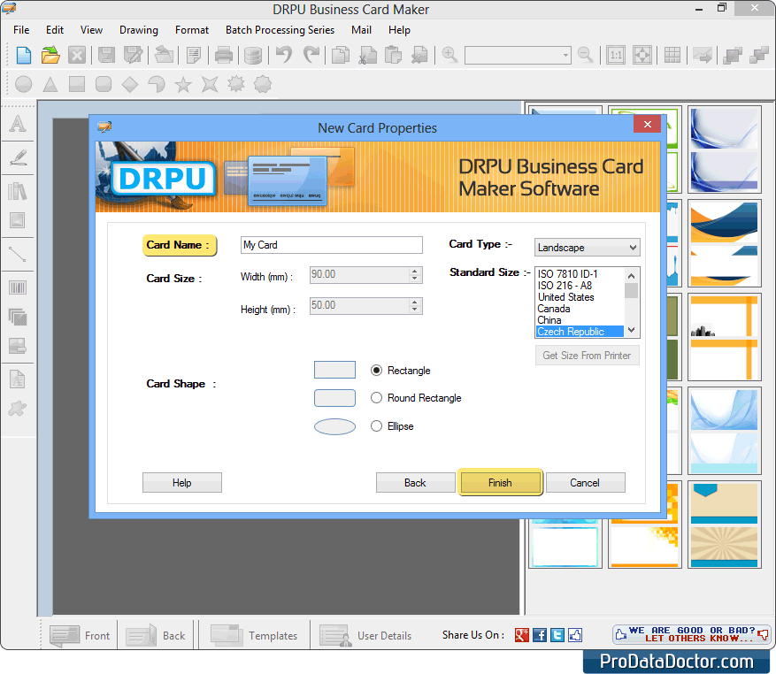 Screenshots of business card maker software for how to design business card maker colourmoves