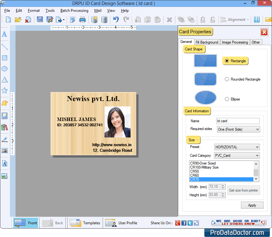 Software Design Maker Employee Id Company Cards Student Identity Bulk