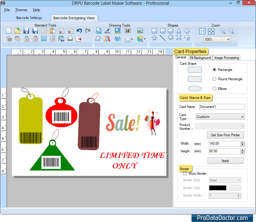 Barcode Label Maker - Professional Edition create linear 2d