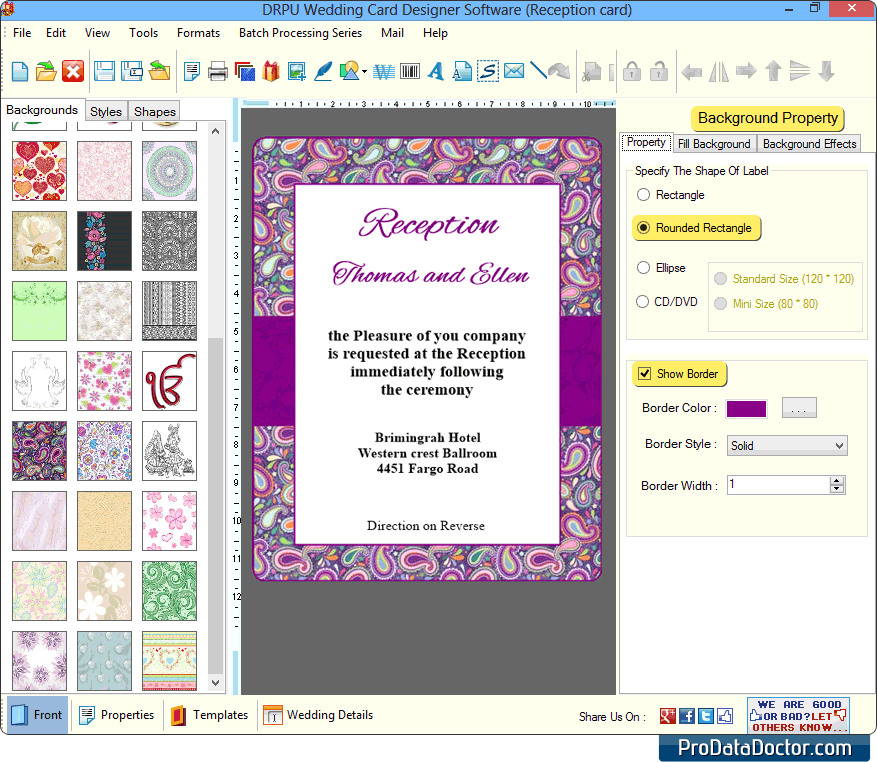 Software Wedding Invitations: Wedding Card Maker Software Design And Print Marriage