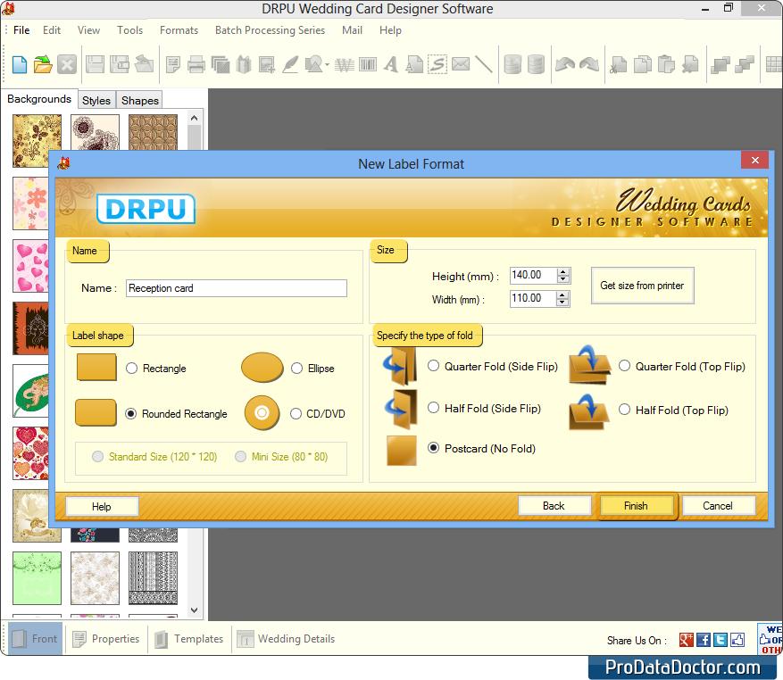 Screenshots of Wedding Card Maker software to design Wedding ...